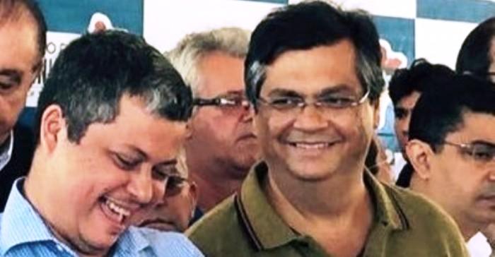 Edinaldo Neves com Flávio Dino: laranjismo assumido publicamente