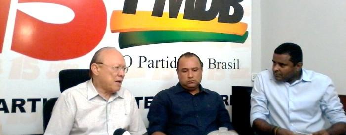 João Alberto com Roberto Costa e Fábio Câmara: busca de unidade e reconciliação
