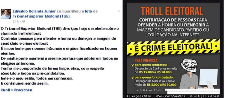 Edivaldo m campanha contra críticas na internet; deveria começar na própria campanha