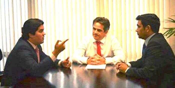 Wellington com os líderes do PP: liberdade para formação de alianças