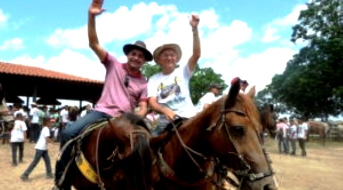 Zé Inácio e Zé Costa em seus cavalos