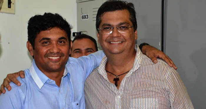 Wellington em foto antiga com Flávio Dino; comunista quer isolar o candidato do PP