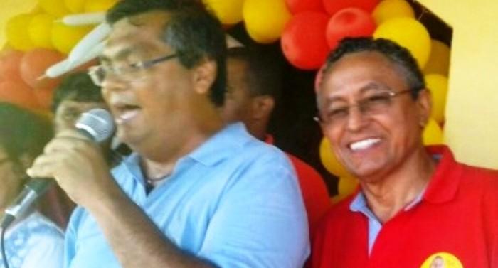 Flávio Dino e Amilcar, o ex-juiz e tio de Antonio Nunes: candidato empurrado em Barreirinhas