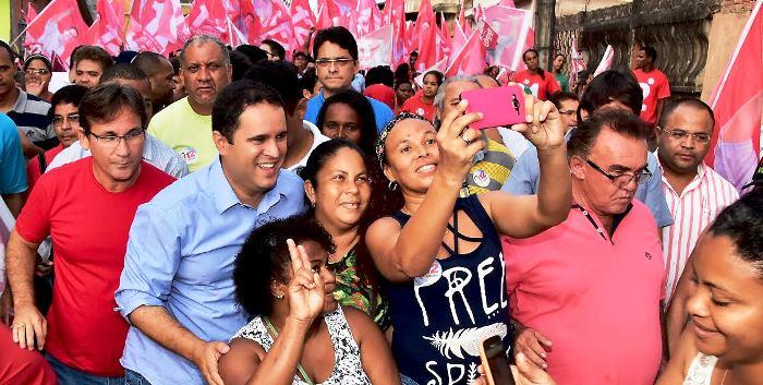 Após críticas, Edivaldo resolveu abrir espaços para eleitores nos bairros de São Luís...
