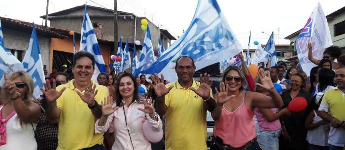 Milhares de mulheres percorreram ruas do Maiobão em apoio à candidatura de Gilberto Aroso a prefeitura de Paço do Lumiar