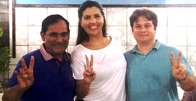 Josemar com Ana Paula e Marcone
