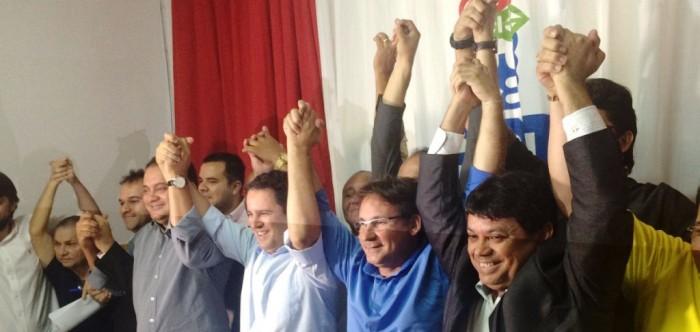 Júlio Pinheiro com Edivaldo e Márcio Jerry: controle político de sindicatos