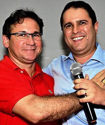 Júlio Pinheiro com o prefeito Edivaldo
