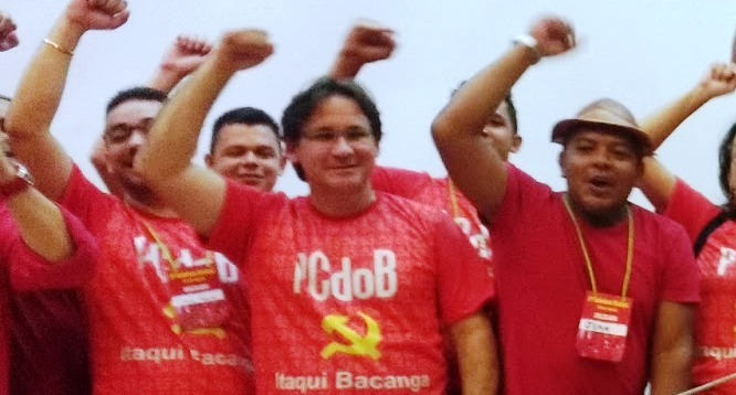 Pinheiro com membros do PCdoB no Itaqui-Bacanga