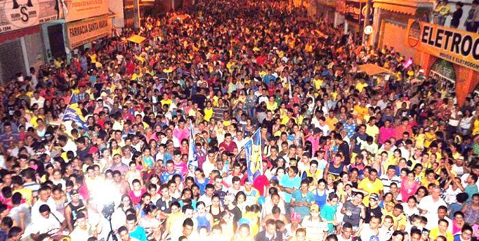 Milhares de pessoas participaram do evento de campanha