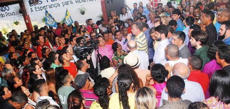 Em meio ao povo de São José de Ribamar: força popular...