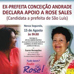 Rose e Conceição: anúncio segunda, dia 15