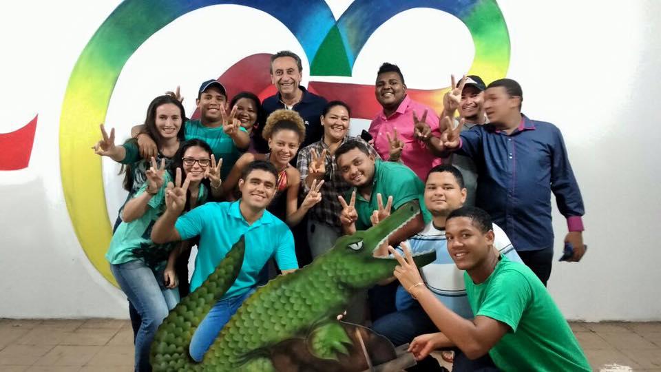 Ricardo Murad com os coordenadores do comitê