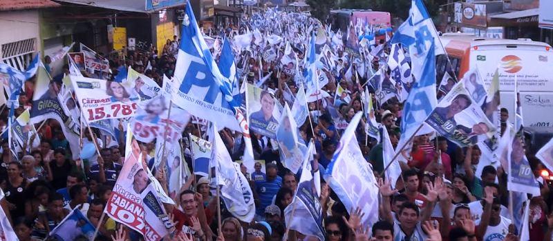 A gigantgesca caminhada mostra a força do candidato do PRB em Paço do Lumiar