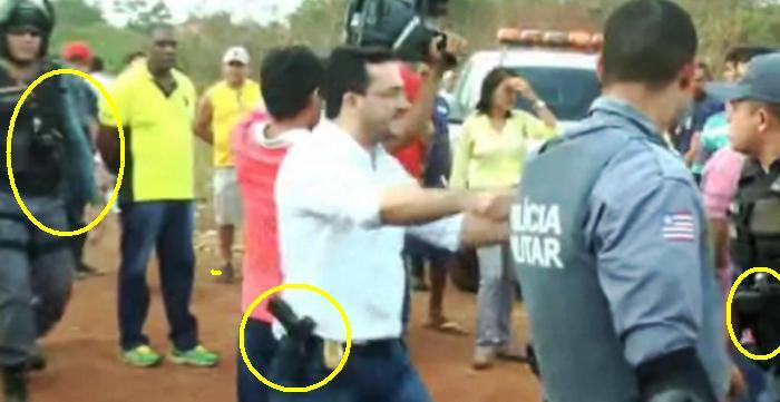 Homens armados até os dentes invadiram Coroatá a serviço do candidato do governo