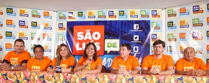 """A candidata com seus aliados e representantes culturais no """"São Luís de Verdade"""""""