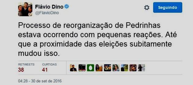 A fala de Flávio Dino nas redes sociais: só pensa naquilo