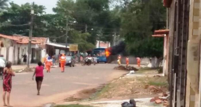 ônibus queimado em São Luís; 16 ataques em quatro dias
