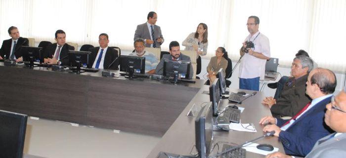 Gil Cutrim em audiência com o procurador-geral de Justiça: transparência na transição
