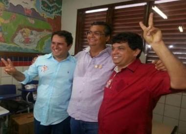 Márcio com Dino e Edivaldo: fanfarronices
