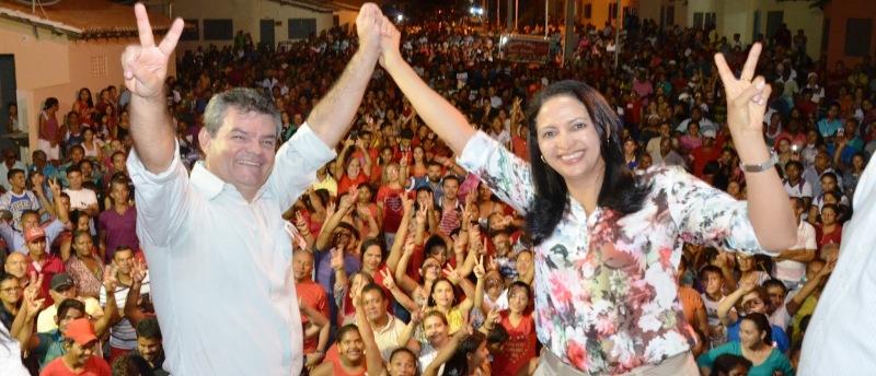 Francisca Primo e seu vice no lançamento da candidatura: a um passo da eleição