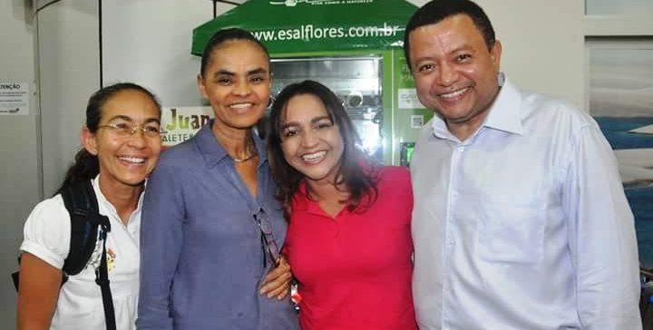 As lideranças com Eliziane e Marlon Reis