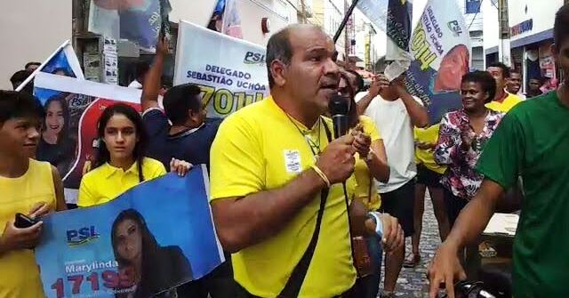 Uchôa no centro comercial de São Luís: mobilização...