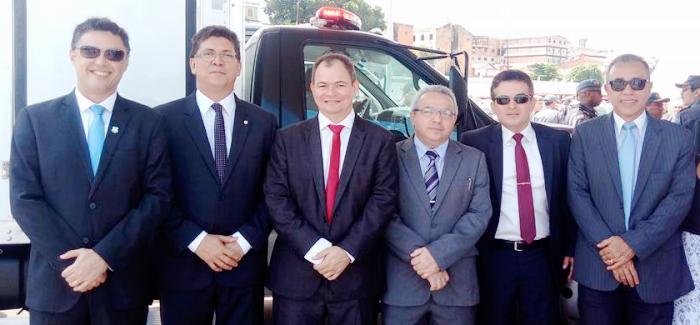 Rafale Leitoa com o governador e os membros do Sistema de Segurança...