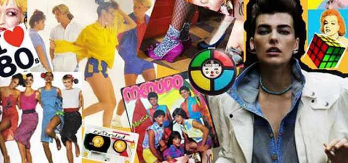 alguns dos ícones dos anos 80: dos brinquedos à vestimenta, dos cortes de cabelo à maquiagem