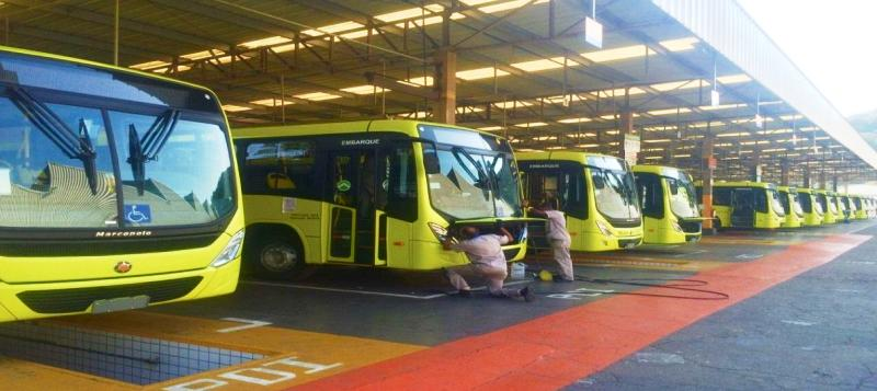 Imagem de ônibus que, segundo o consórcio, estão sendo fabricados para as empresas que venceram a licitação