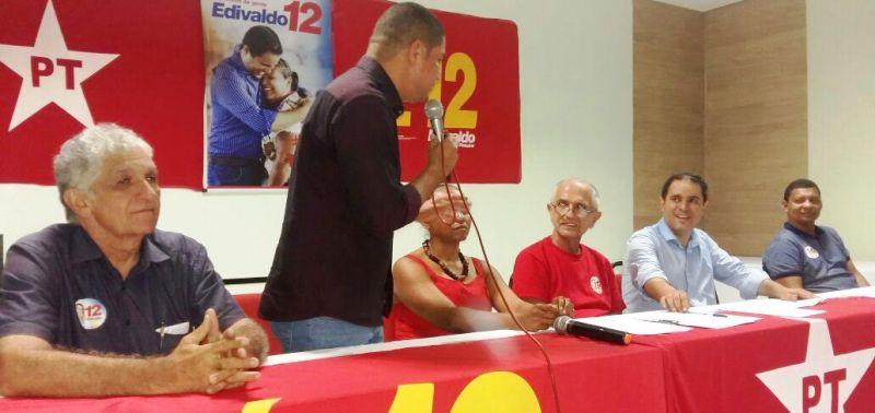 Zé Inácio reairma apoio do PT a Edivaldo Júnior em plenária do PT
