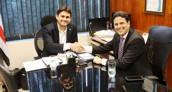 Juscelino Filho com o ministro Bruno Araújo