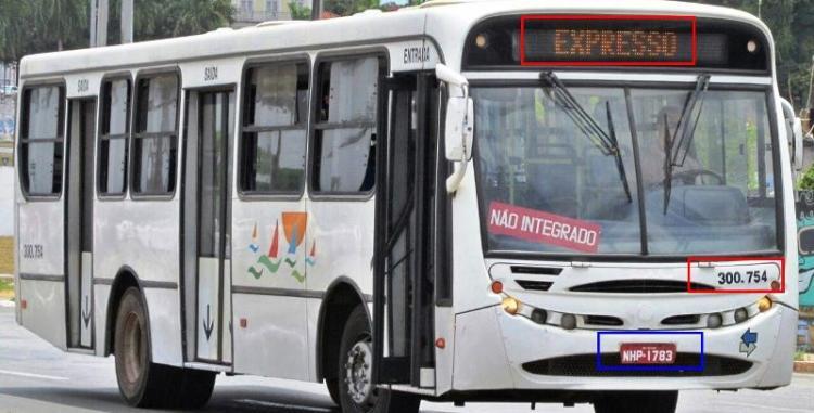 """E o mesmo ônibus rodadno como """"Expresso"""" integrando a Frota do Consórcio Upaon Açu, como se fosse novo"""