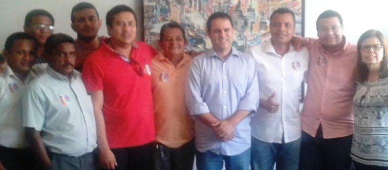 Membros do PMDB com Edivaldo Júnior: sarneysistas na prefeitura