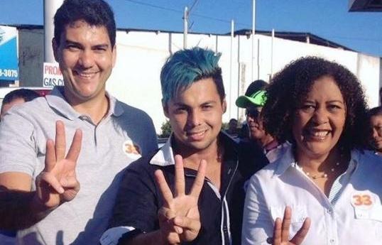 Eduardo com o Garoto Mídia e Rose Sales: compromisso por São Luís