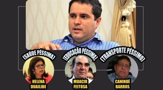 Reprodução de print distribuído na internet, mostrando o vínculo de Edivaldo com João Castelo