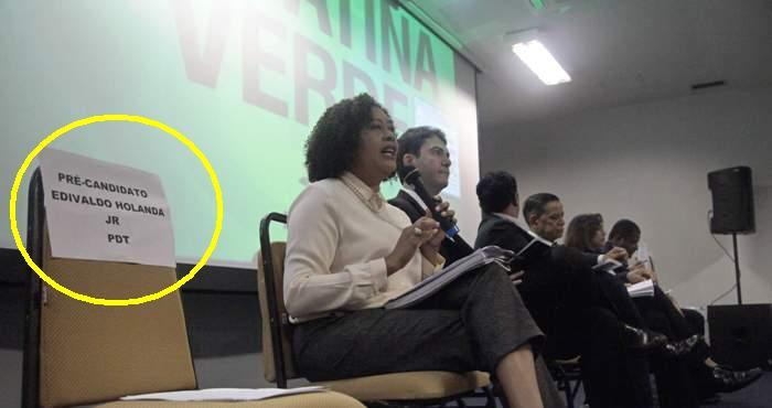 A cadeira vazia de Edivaldo `Júnior na sabatina do Partido Verde; primeira fuga...