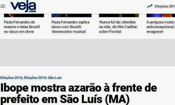 Revista Veja destaca Braqide como azarão, por ter chegado ao segundo turno na última hora